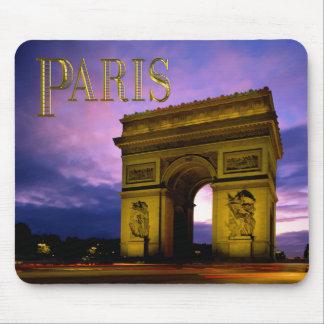 Night at Arc de Triomphe Paris Mouse Pads