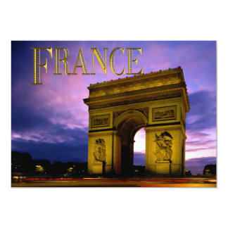 Night at Arc de Triomphe TEXT France Card