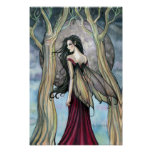 Night at Last Fantasy Fairy Gothic Poster Print
