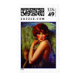 Night At The Beach Flapper Fashion Style Stamps