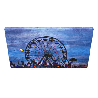Night at the Fair Stretched Canvas Print