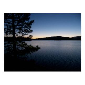 Night at the lake postcard