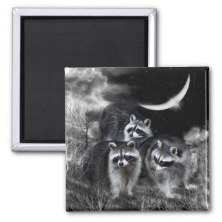 Night Bandits Art Magnet