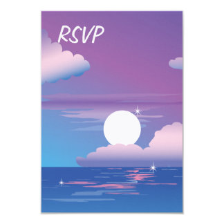 Night Beach RSVP Wedding Invitation