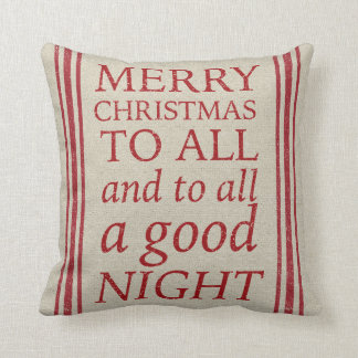 Night Before Christmas Grain Sack Inspired Pillow
