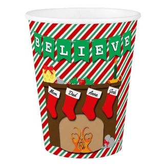 Night Before Christmas Party Themed • 4 Stockings Paper Cup