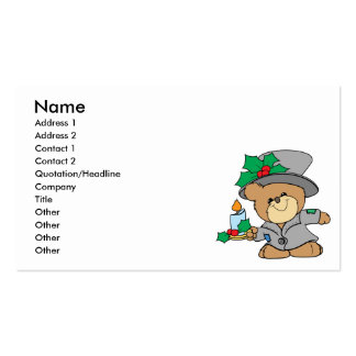 night before christmas teddy bear design Double-Sided standard business cards (Pack of 100)