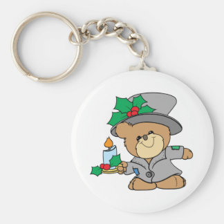 night before christmas teddy bear design keychain