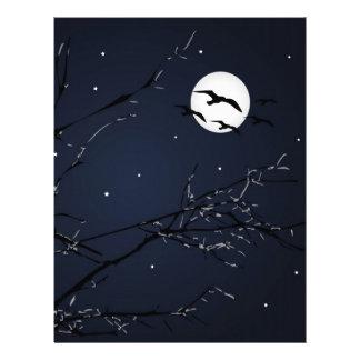 Night Birds Landscape Personalized Letterhead