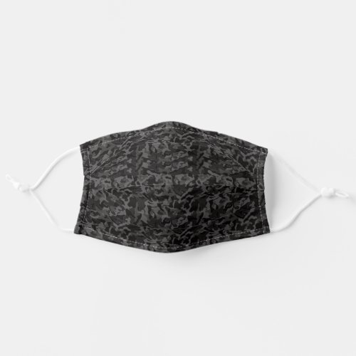 Night Black Camouflage Camo your Cloth Face Mask
