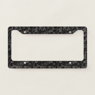 Night Black Camouflage. Camo your License Plate Frame