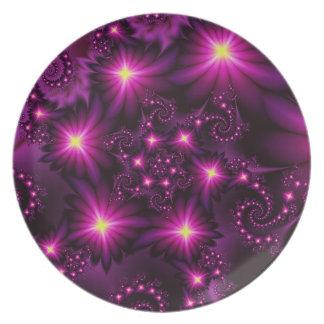 Night bloom dinner plate