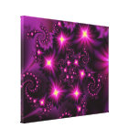 Night bloom stretched canvas prints