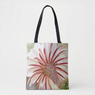Night blooming cactus flower tote bag