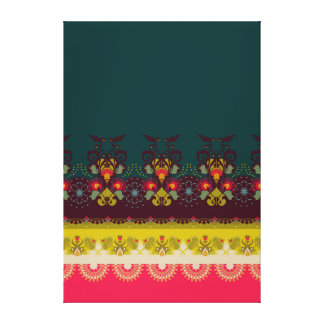 Night Blossom -  geometric pattern Canvas Print