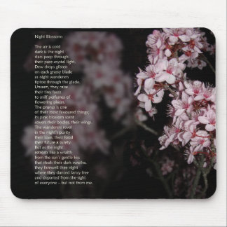 Night Blossom poem Mouse Pad
