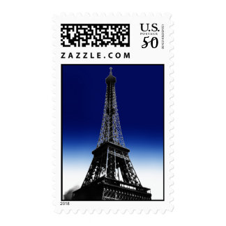 Night Blue Love Paris Eiffel Tower Postage