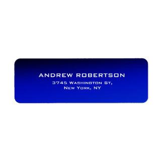 Night Blue Plain Elegant Contemporary Unique Label