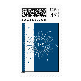 Night Blue Romantic Rosette Stamp