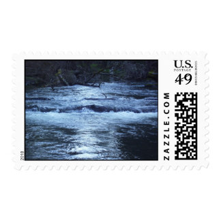 Night Blue Water Postage Stamps
