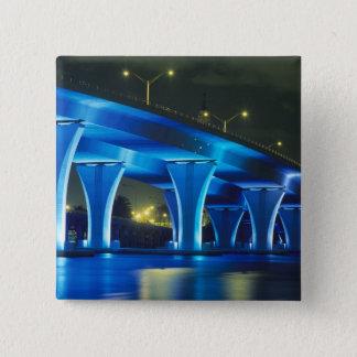 Night bridge at Port of Miami, Florida Button