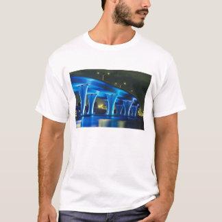 Night bridge at Port of Miami, Florida T-Shirt