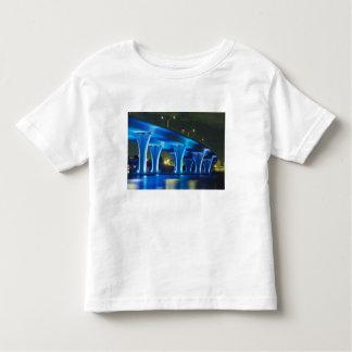 Night bridge at Port of Miami, Florida Toddler T-shirt