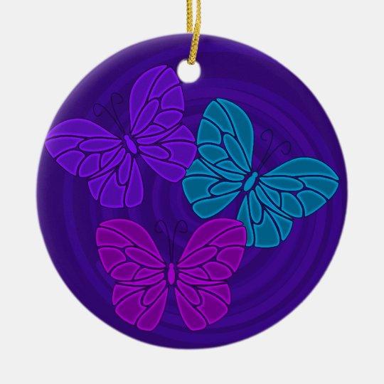 Night butterflies ornament