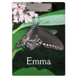 Night Butterfly Black Swallowtail Nature Photo Clipboard