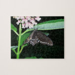 Night Butterfly Black Swallowtail Nature Photo Jigsaw Puzzle