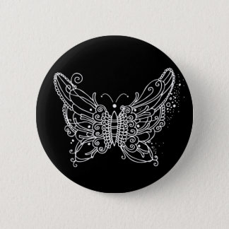 Night Butterfly Pinback Button