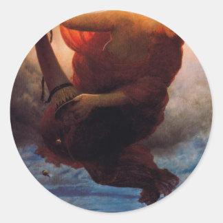 Night by Arnold Böcklin Classic Round Sticker