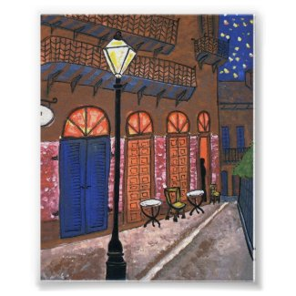 Night Cafe at Pirates Alley print