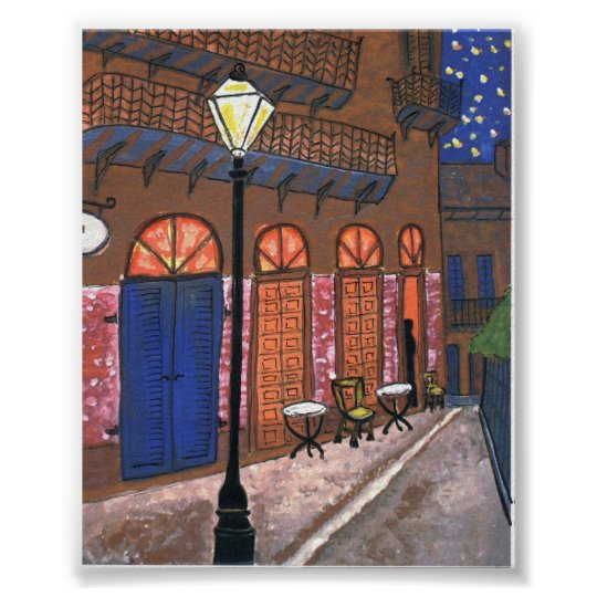 Night Cafe at Pirates Alley Poster