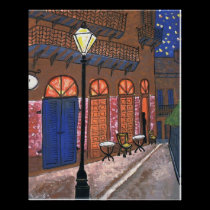 Night Cafe at Pirates Alley posters