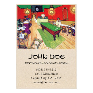 Night Cafe in Arles by Vincent Van Gogh Business Card Templates