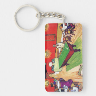 Night Cafe in Arles by Vincent Van Gogh Keychain