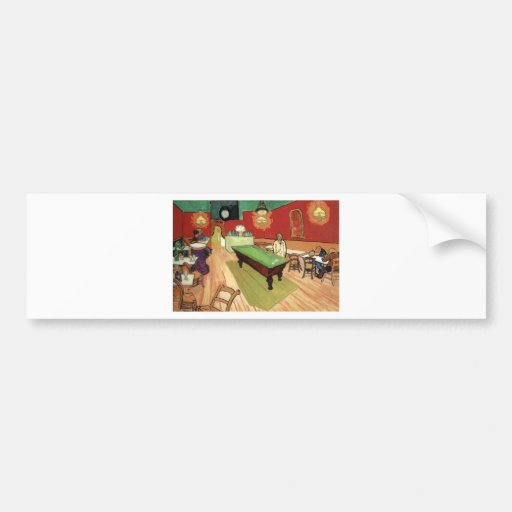 Night Cafe - Vincent Van Gogh Bumper Stickers