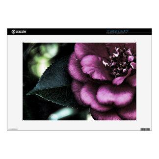 "Night Camellia Skin For 15"" Laptop"