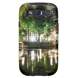 night canal in Amsterdam, Netherlands Samsung Galaxy S3 Cases