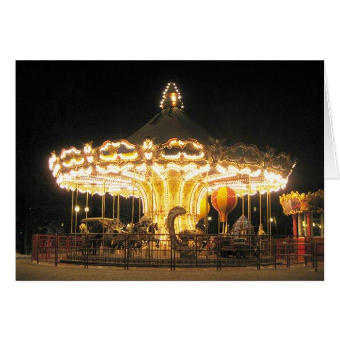 Night carrousel card