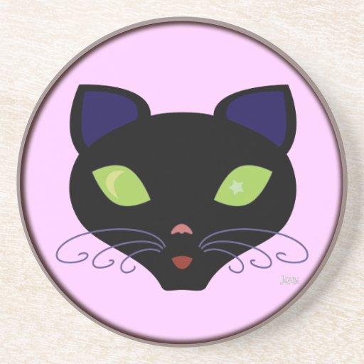 Night Cat Coaster