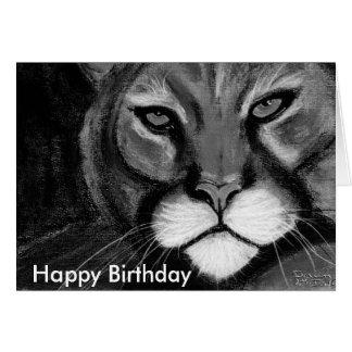 night cat, Happy Birthday Card
