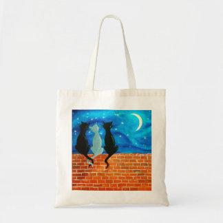 Night Cats 2 Budget Tote Bag