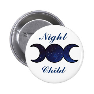 Night Child Starfilled Triple Moons Button