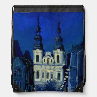 Night church Poland Backpacks