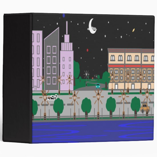 Night City 3 Ring Binder