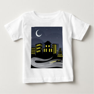 Night City and Road Baby T-Shirt