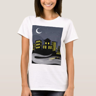 Night City and Road T-Shirt