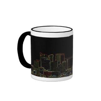 Night city life coffee mug